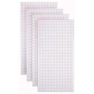 1/4 in. Custom Painted Blissful White Pegboard Wall Organizer (Set of 4)