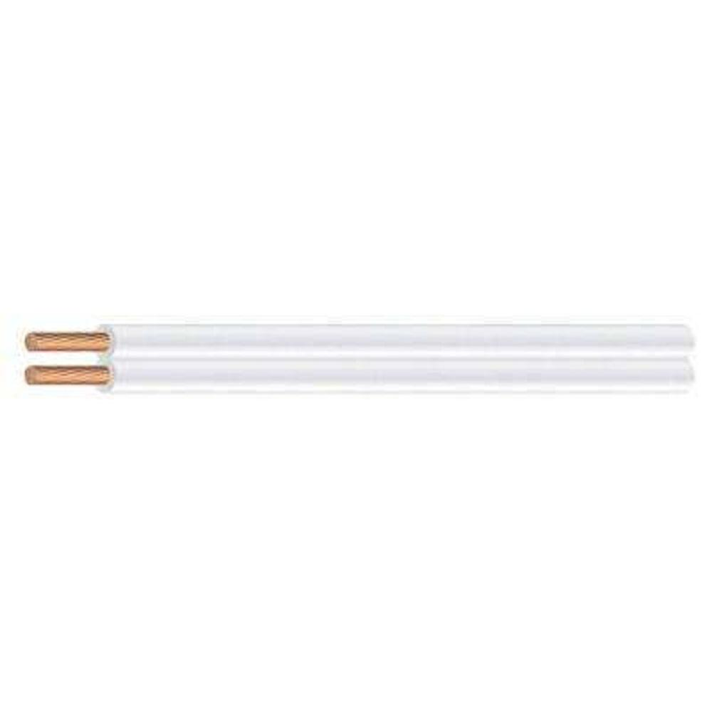 Southwire 25 ft. 18/2 White Stranded CU SPT-1 Lamp Wire-49909525 ...