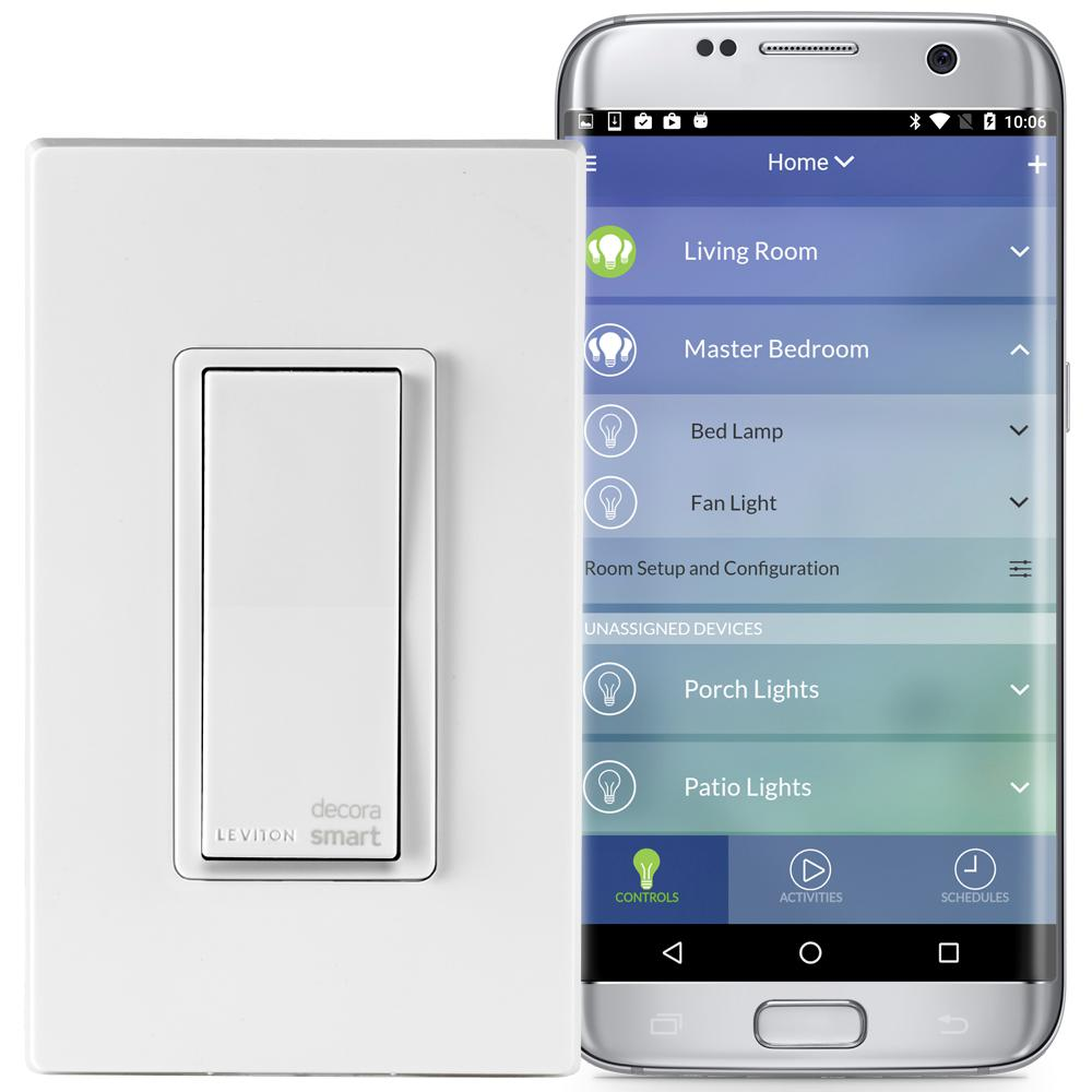 Leviton Decora Smart Wi-Fi 15 Amp Universal LED/Incandescent Switch ...