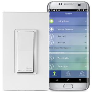 Leviton Decora Smart Wi-Fi 15 Amp Universal LED/Incandescent Switch, Works with Amazon Alexa and Google by Leviton
