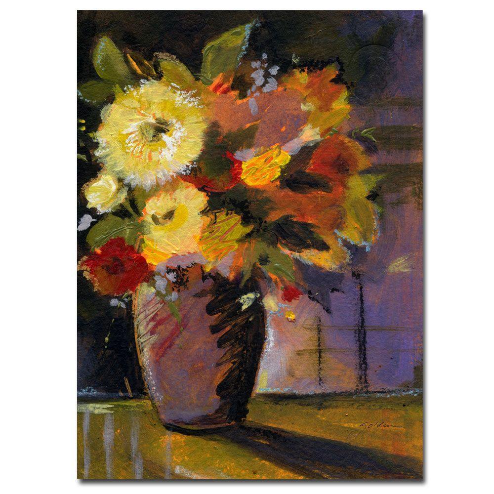 18 in. x 24 in. Purple Vase Canvas Art
