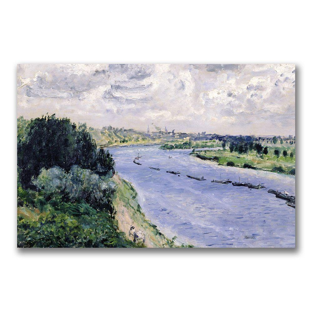 22 in. x 32 in. Barges on the Seine Canvas Art