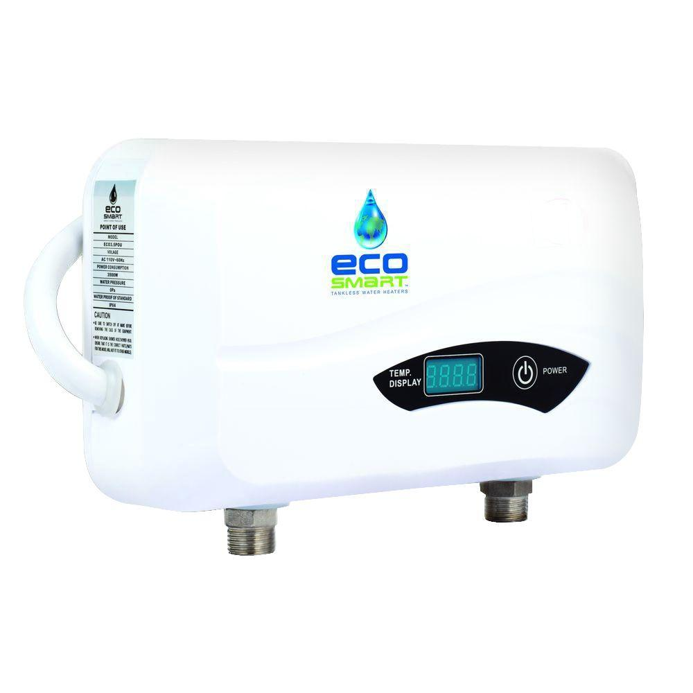 EcoSmart 3.5 KW 0.5 GPM Point Of Use Electric Tankless Water Heater