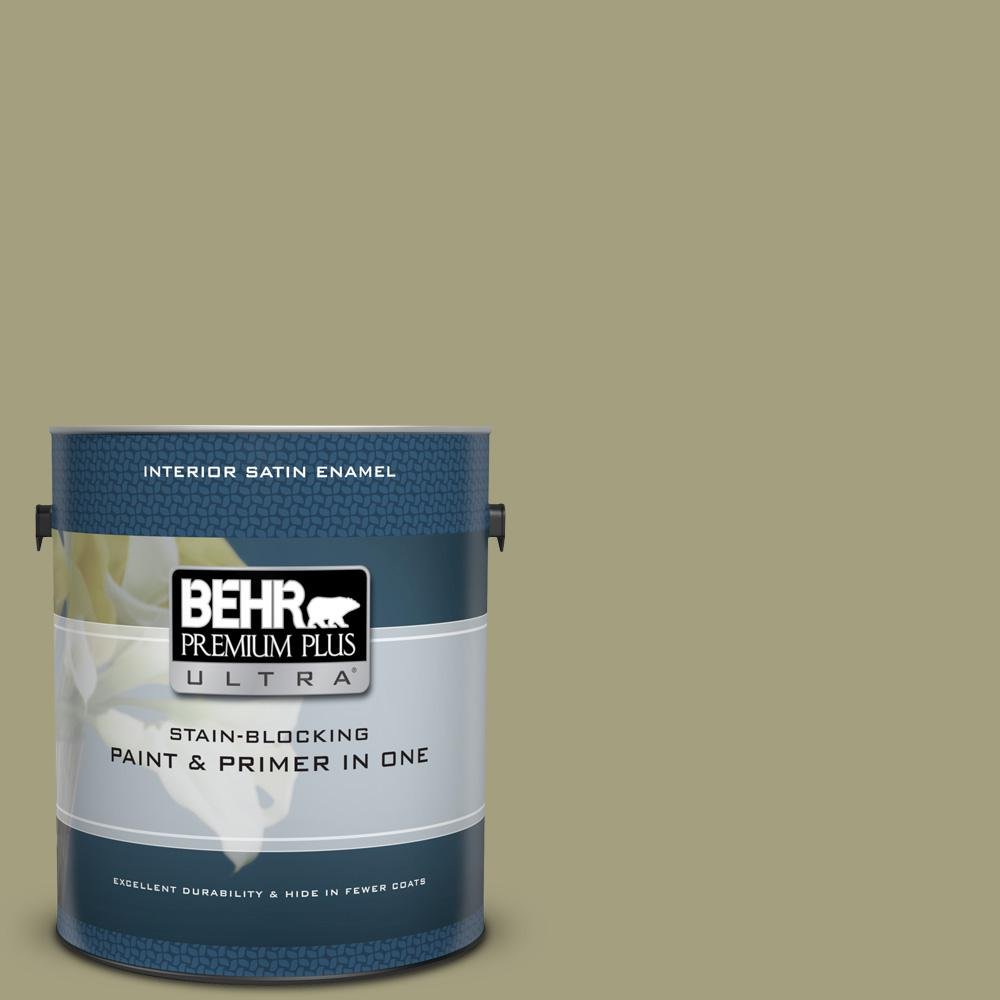 Behr Premium Plus Ultra 1 Gal S350 4 Sustainable Semi Gloss Enamel Interior Paint And Primer In One