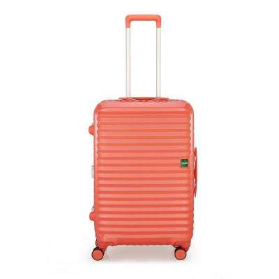 Groove 2 in. 26.6 in. Macaroon Pink Hardside Spinner Suitcase