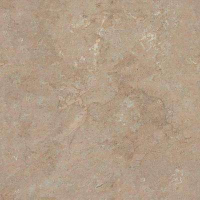 5 in. x 7 in. Laminate Countertop Sample in Mocha Travertine with Premiumfx Etchings Finish