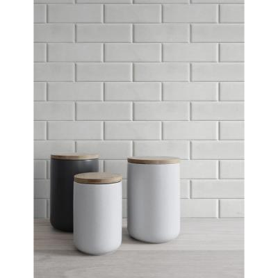Off-White Subway Tile Peel and Stick Wallpaper 30.75 sq. ft.