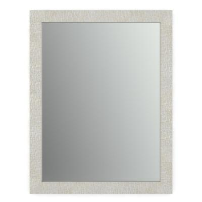 28 in. x 36 in. (M1) Rectangular Framed Mirror with Standard Glass and Easy-Cleat Flush Mount Hardware in Stone Mosaic