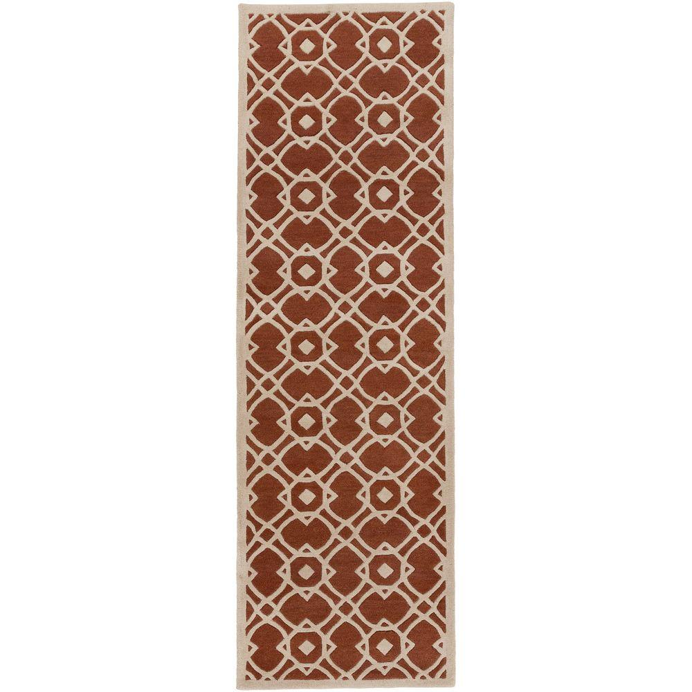 Geneva Rust 2 ft. 6 in. x 8 ft. Indoor Rug