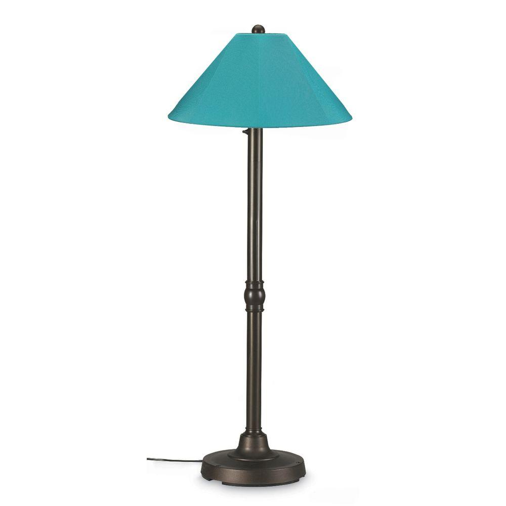 San Juan 60 in. Outdoor Bronze Floor Lamp with Aruba Shade