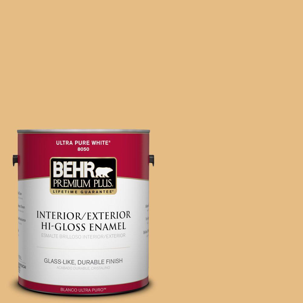 1-gal. #320D-4 Arizona Tan Hi-Gloss Enamel Interior/Exterior Paint