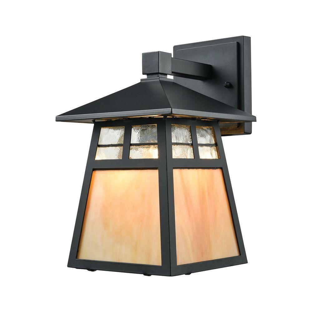 Cottage 1-Light Matte Black LED Outdoor Wall Sconce