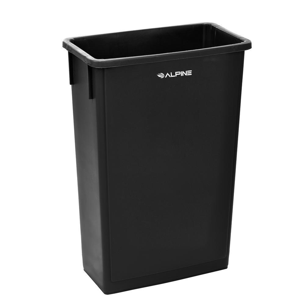 23 Gal. Black Waste Basket Commercial Trash Can