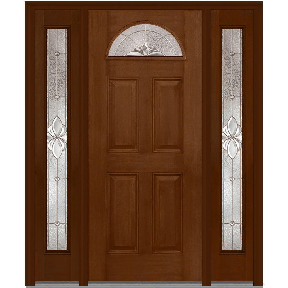Medium Brown Wood 4 Panel Front Doors Exterior Doors The