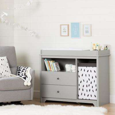 Vito 2-Drawer Soft Gray Changing Table