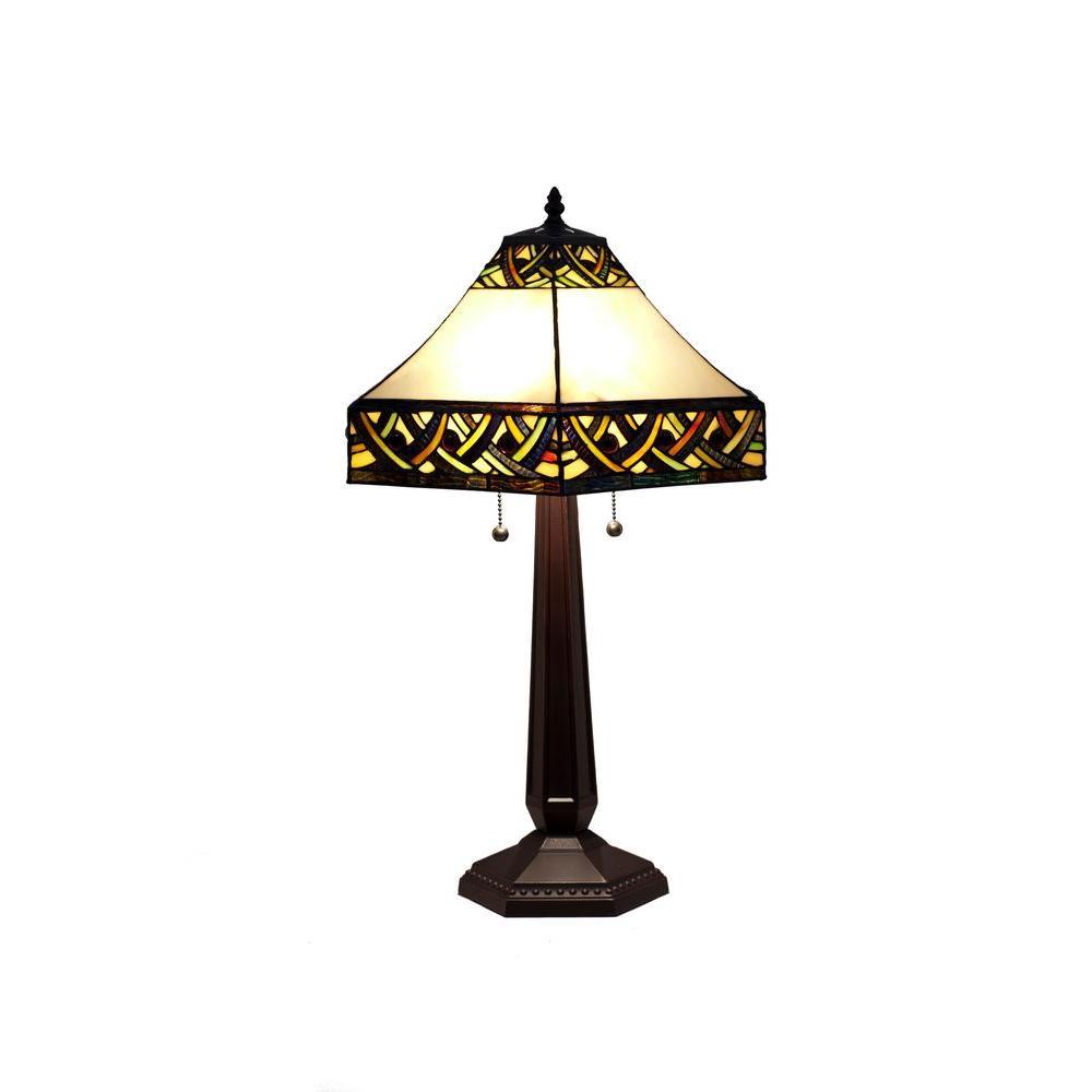 Tiffany Alhambra 25 in. Bronze Table Lamp