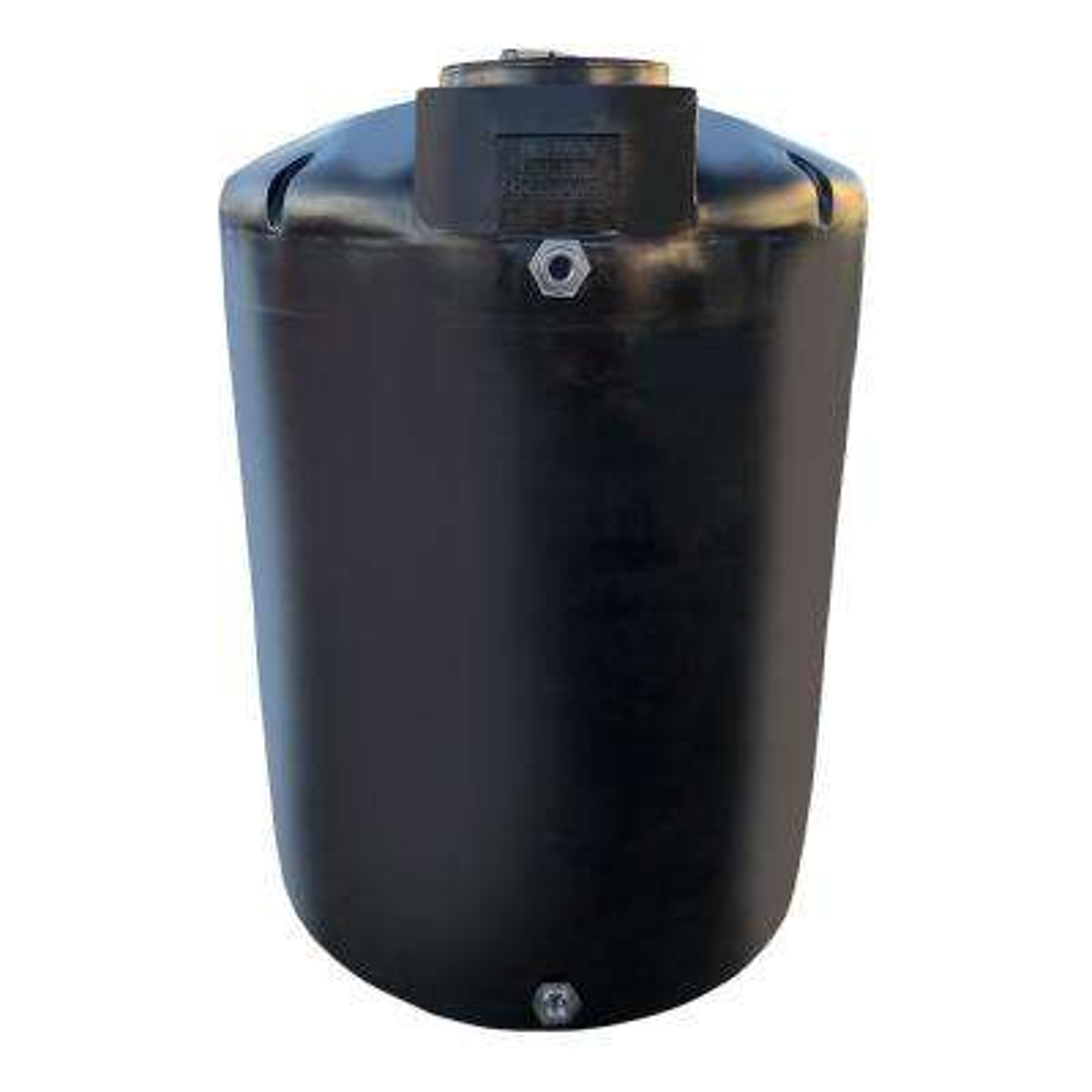 1000 Gal. Black Vertical Water Storage Tank