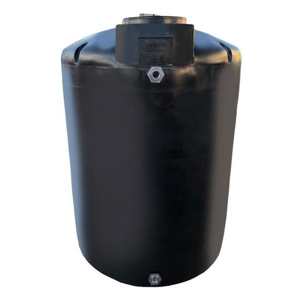 1000 Gal. Black Vertical Water Storage Tank