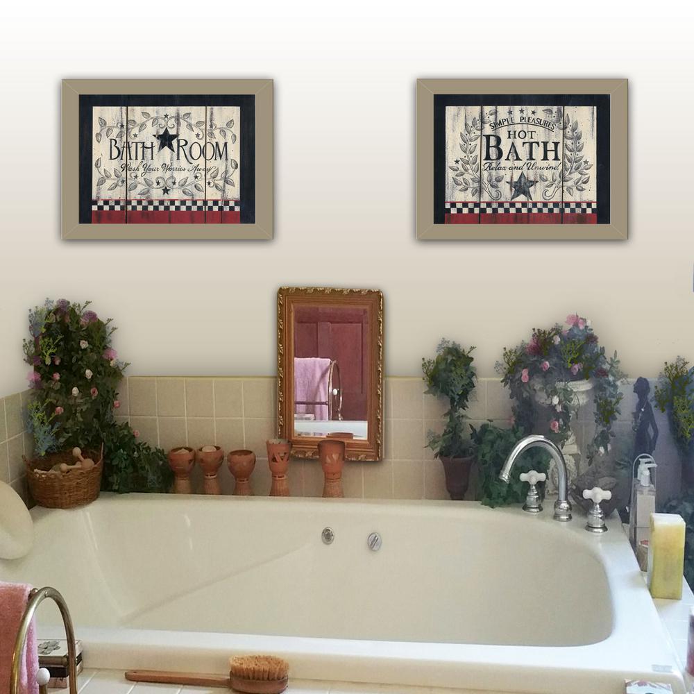 """""""Hot Bath"""" by Linda Spivey Framed Wall Art"""