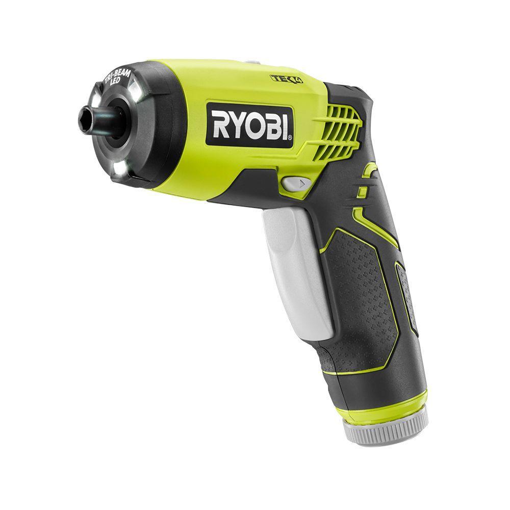 ryobi 4 volt lithium ion screwdriver kit hp54l the home depot. Black Bedroom Furniture Sets. Home Design Ideas