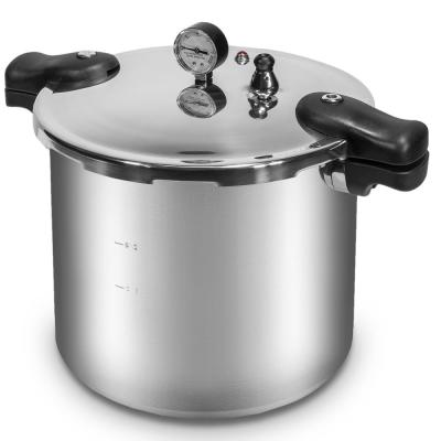 Premium Series 22 qt. Silver Aluminum Dishwasher Safe Induction Compatible Stovetop Pressure Cookers with Built-in Gauge