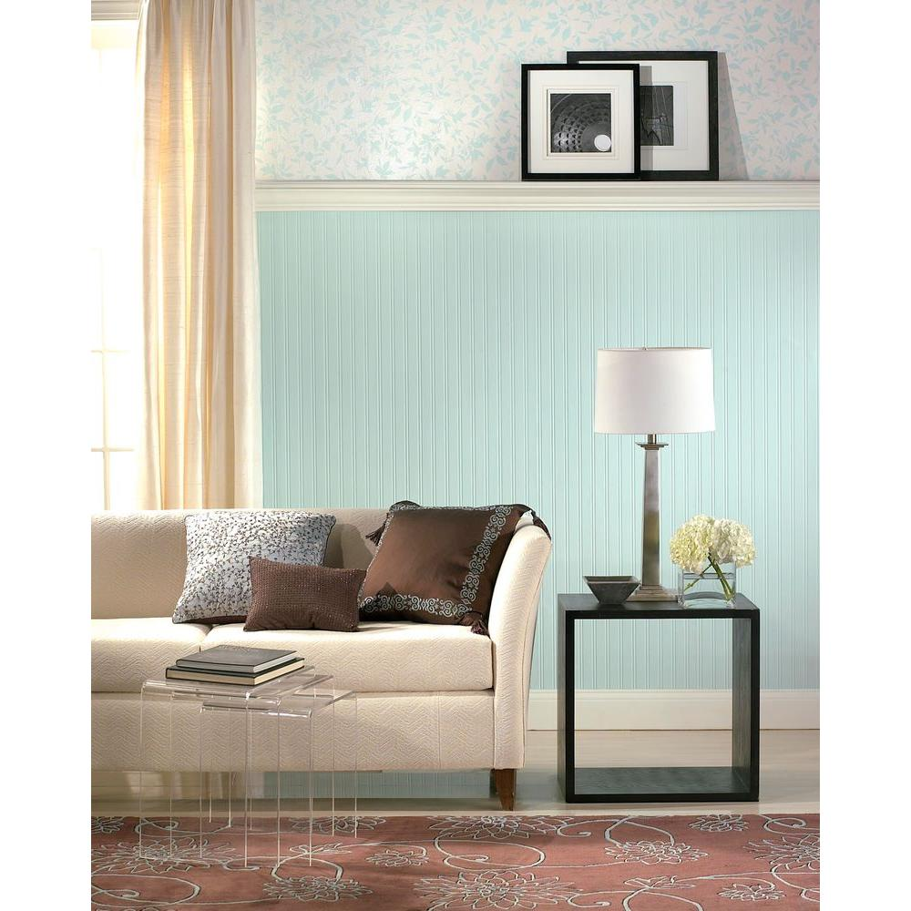 Martha Stewart Living Beadboard Paintable Removable Wallpaper