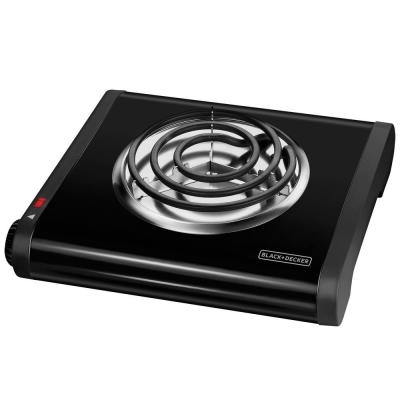 6 in. Single Burner Black with Temperature Control Hot Plate