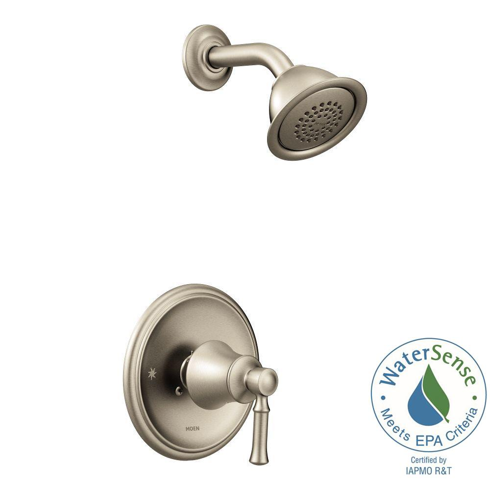 MOEN Weymouth Posi-Temp Eco-Performance Shower Trim Kit in Brushed ...