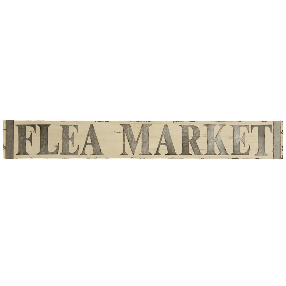 StyleCraft Metal And Flea Market Signage Metal And Wooden Flea Market Wooden Wall Art, Metal & Wooden Flea Market was $99.99 now $44.72 (55.0% off)