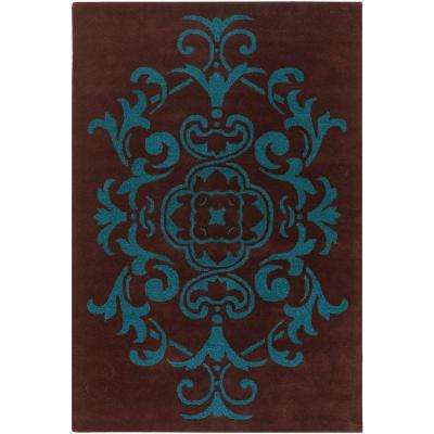 Venetian Brown/Blue 5 ft. x 7 ft. 6 in. Indoor Area Rug
