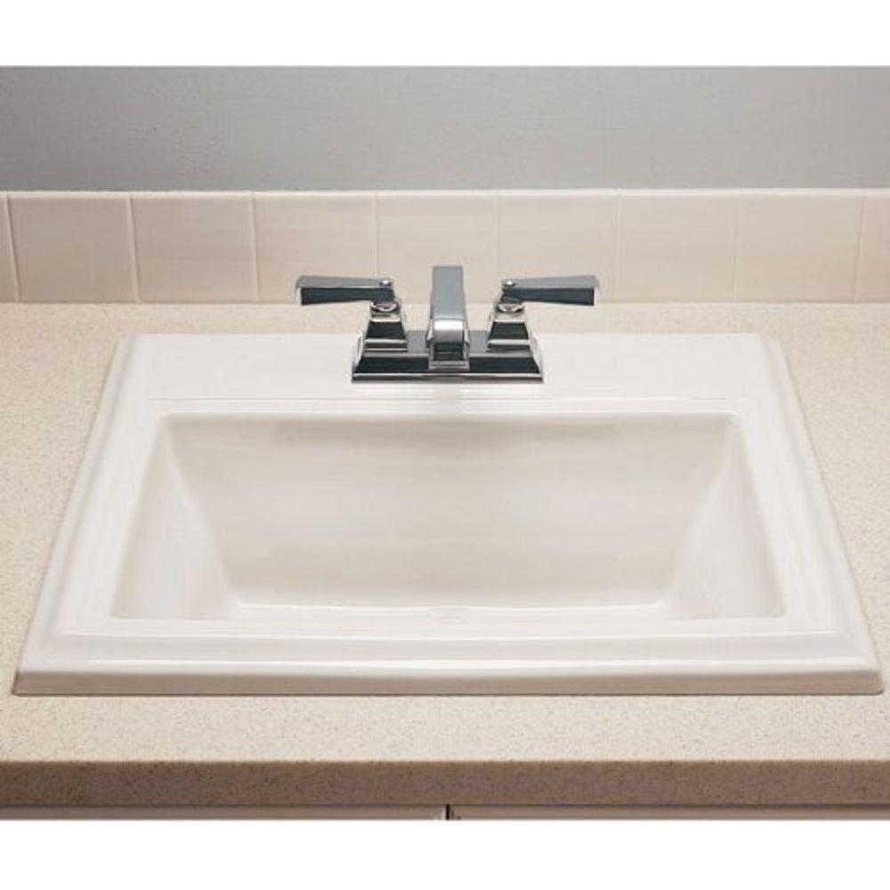 American Standard Town Square Self Rimming Drop In Bathroom Sink And In White