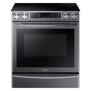 5.8 cu. ft. Slide-In Induction Range with Virtual Flame Technology in Fingerprint Resistant Black Stainless