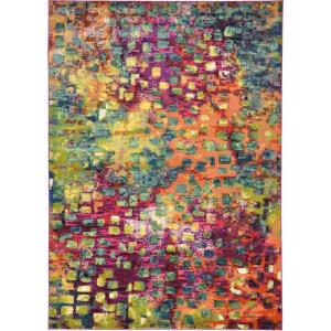 Unique Loom Abstract Multicolor Barcelona 7 Ft X 10 Ft