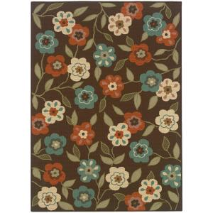 Summertime Brown 6 Ft. 7 In. X 9 Ft. 6 In. Indoor · Home Decorators ...
