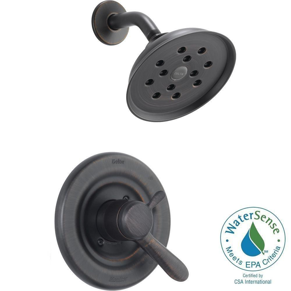 Delta Lahara 1-Handle H2Okinetic Shower Only Faucet Trim Kit in Venetian Bronze (Valve Not Included)