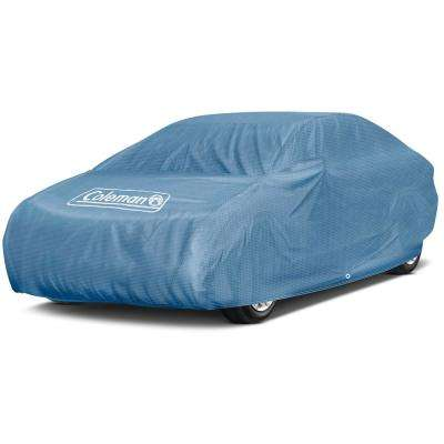 Spun-Bond PolyPro 3-Ply 95 GSM 160 in. x 65 in. x 46 in. Signature Blue Full Car Cover