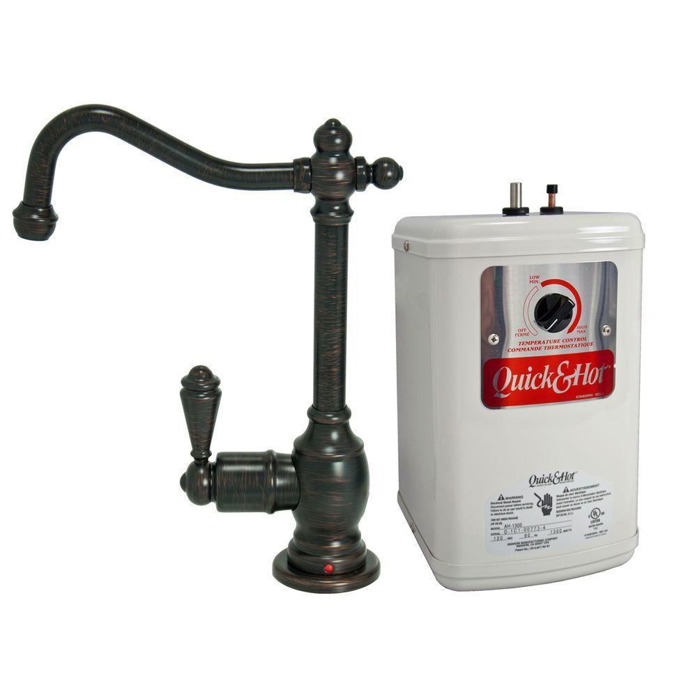 Single-Handle Hot Water Dispenser Faucet with Heating Tank in Venetian Bronze