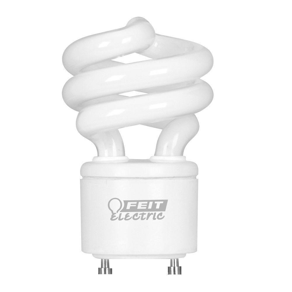 60W Equivalent Cool White (4100K) Spiral GU24 CFL Light Bulb (12-Pack)