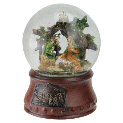 5.5 in. Christmas Musical Nativity Water Glitterdome Decoration