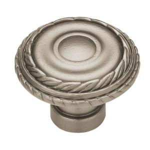 Laurel 1-3/8 in. (35mm) Antique Pewter Round Cabinet Knob