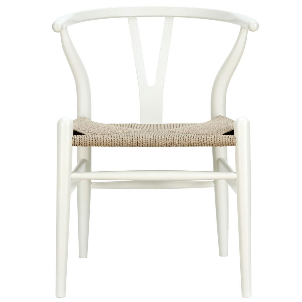 Amish White Dining Wood Armchair