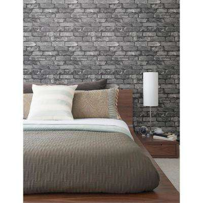 56.4 sq. ft. Brickwork Slate Exposed Brick Wallpaper
