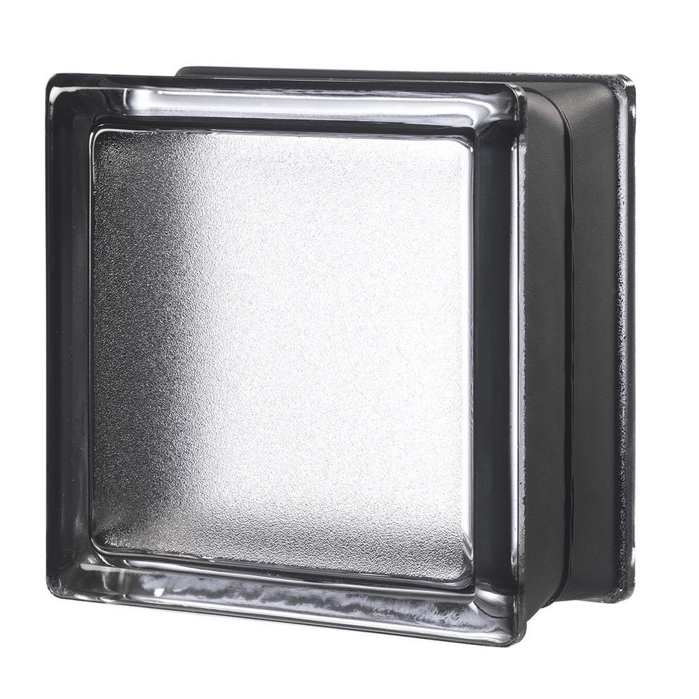 Licorice 5.75 in. x 5.75 in. x 3.15 in. Classic Black Glass Block (6-Pack)