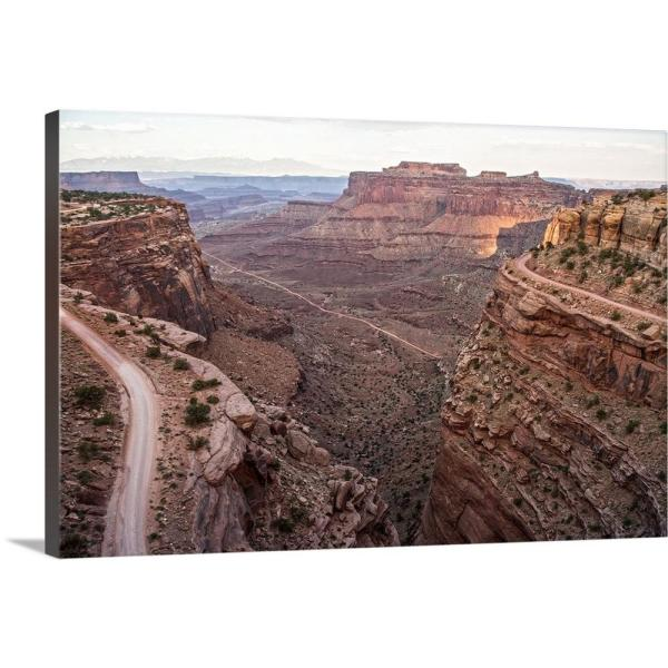 Canyon Landscape From Shafer Trail Canyonlands National Park Utah By Circle Capture Canvas Wall Art