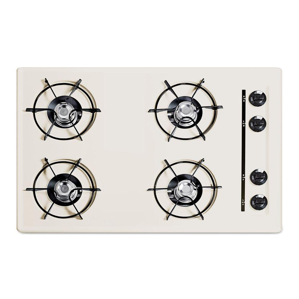 null 30 in. Gas Cooktop in Bisque with 4 Burners