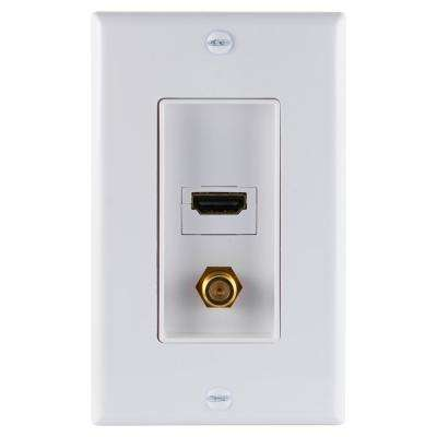 HDMI and Coax Combination Pro Wallplate