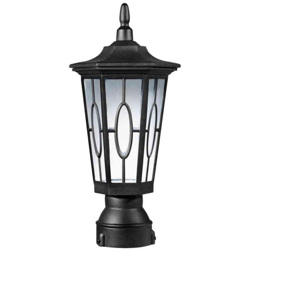 Carousel Exterior Black Led Post Top Lantern