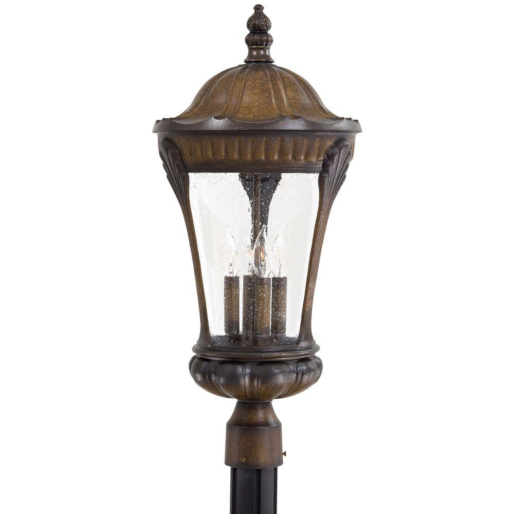 the great outdoors by Minka Lavery Kent Place 4-Light Outdoor Prussian Gold Post Lantern