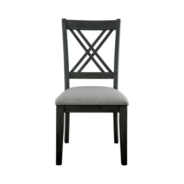 Furniture of America Katarine Gray Upholstered Side Chairs (Set of 2)