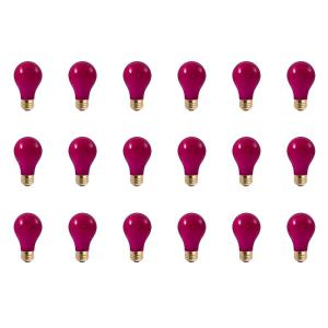 40-Watt A19 Ceramic Pink Dimmable Incandescent Light Bulb (18-Pack)